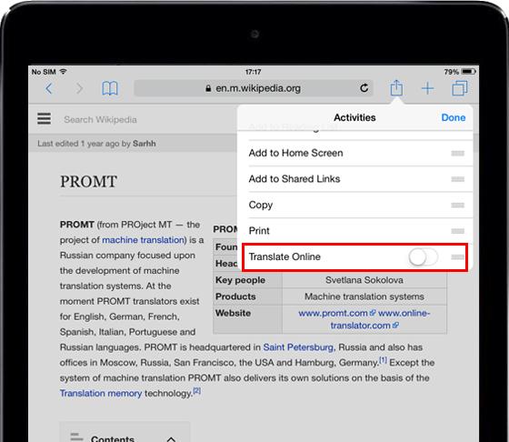 Online-Translator com for iPad